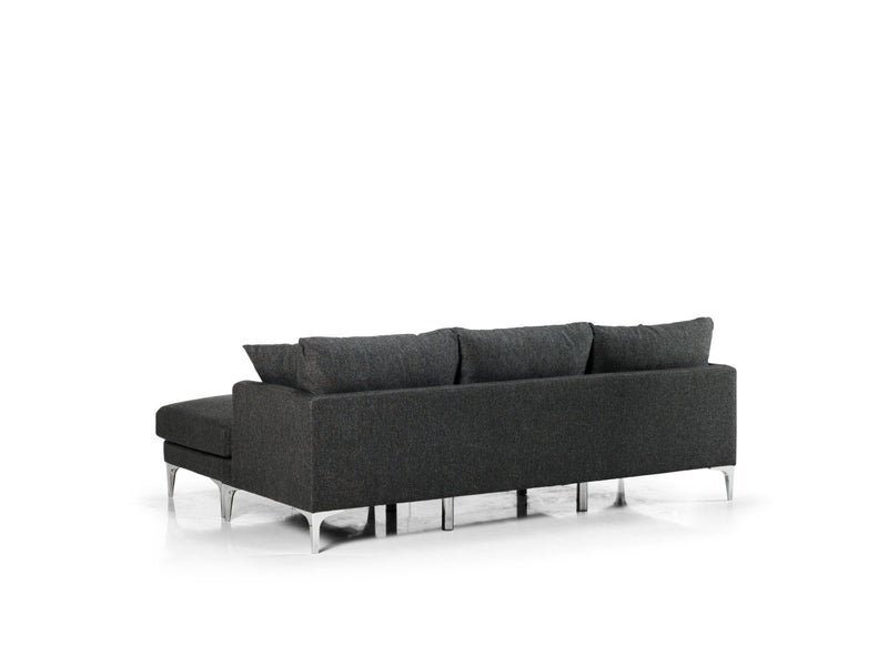 June Smoke  Reversible Sofa Chaise - Luna Furniture