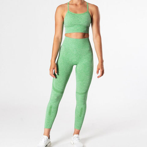 Seamless Women Yoga Sets 2 Piece