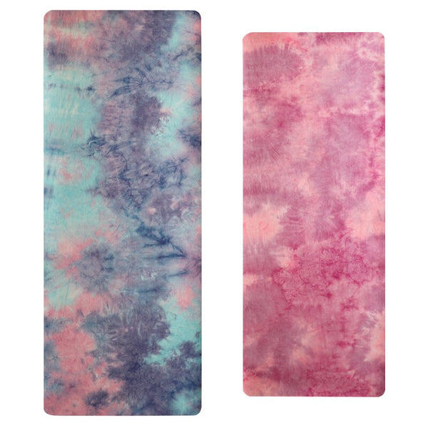 5mm Gym Sports Yoga Mat Suede Tie-dye Non-slip