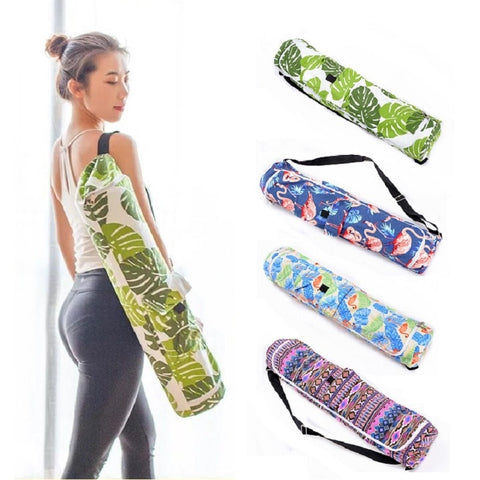 Canvas Yoga Gym Mat Bag Single Shoulder Carriers for mats less than 6mm(only bag)