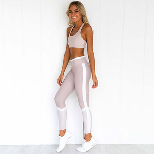 2 Piece Yoga Set Leggings Padded Sports Bras