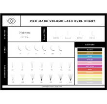 Load image into Gallery viewer, Volume Eyelash Extension Curl Chart