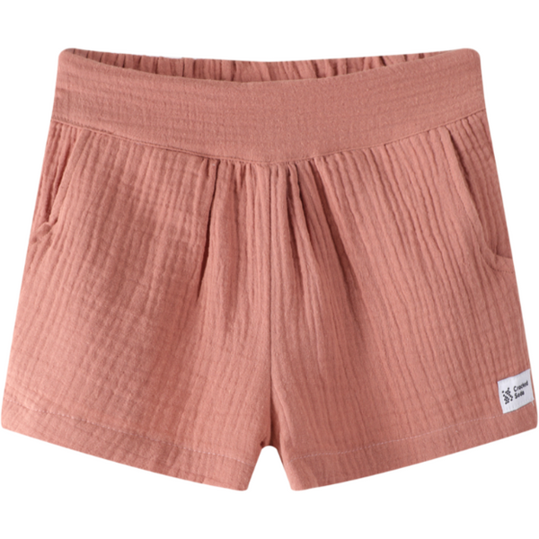 Baby girl Indi shorts. Dusty pink.