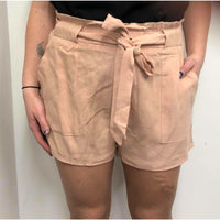 Miracle Linen Shorts Blush