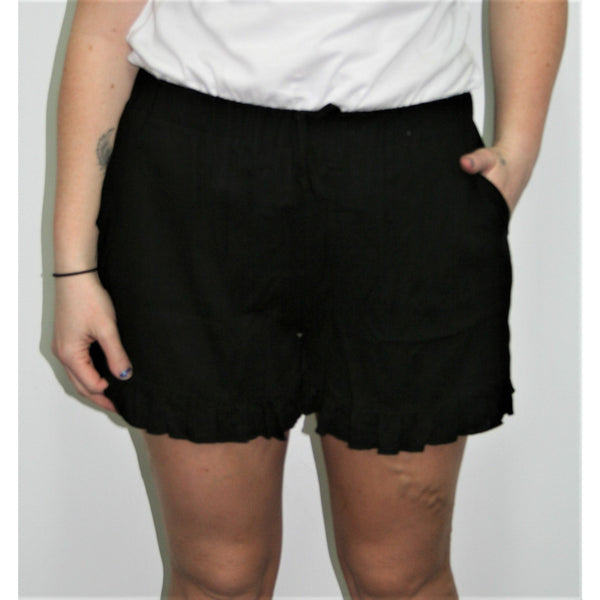Freez Linen Shorts Black