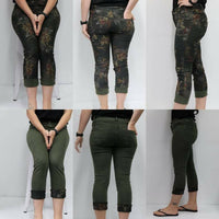 Imagine Calypso Reversible Jeans - Khaki Floral