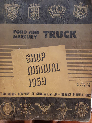 1959 Ford and Mercury Truck Shop manual