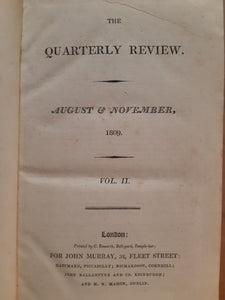 The Quarterly Review - August & November 1809  Vol. II - published by John Murray