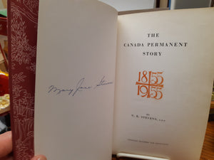 The Canada Permanent Story 1855 - 1955 by G. R. Stevens