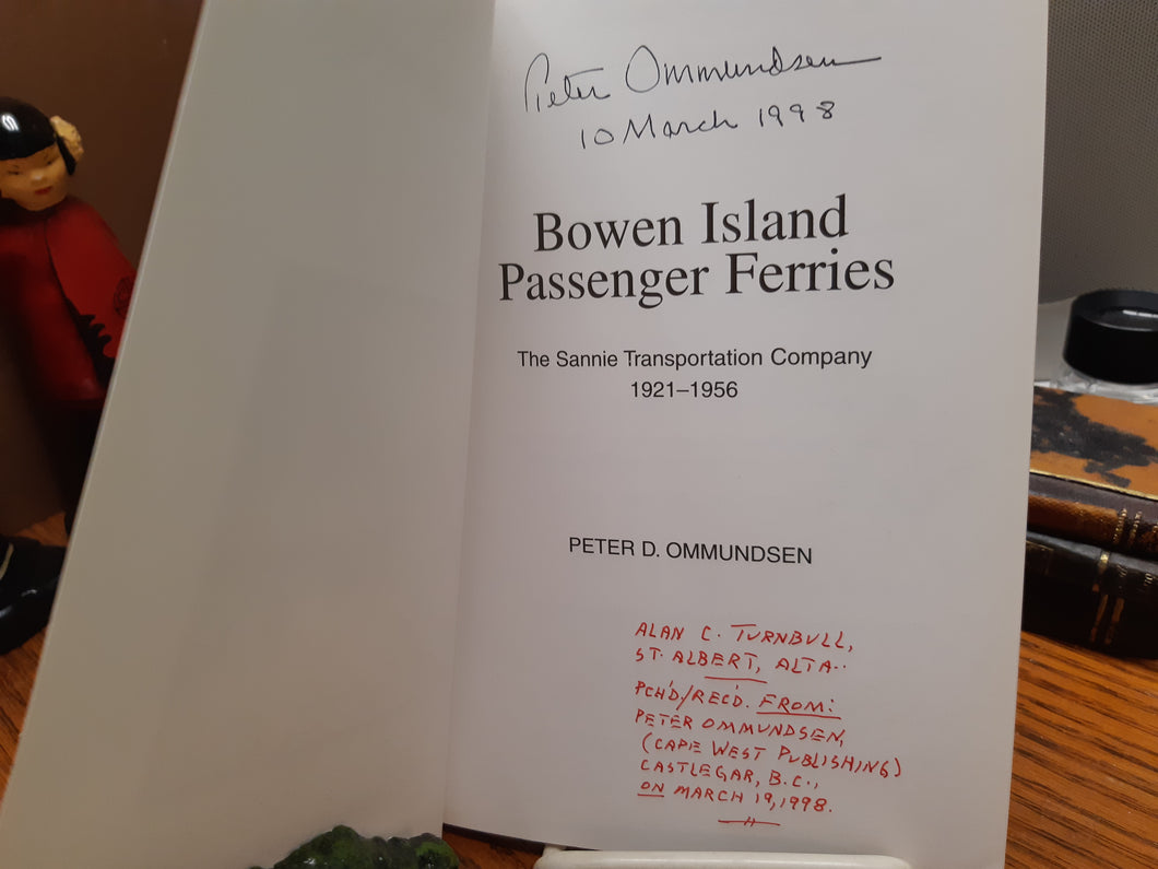 Bowen Island Passenger Ferries - The Sannie Transportation Company 1921 - 1956
