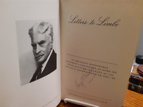 Letters to Limbo - Robert Laird Borden by Henry Borden