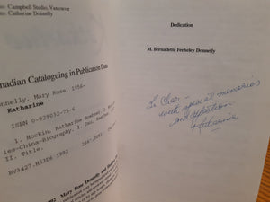 Katharine Boehner Hockin A Biography by Donnelly and Dau