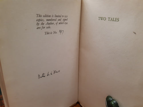 Two Tales - The Green Room and The Connoisseur by Walter de la Mare