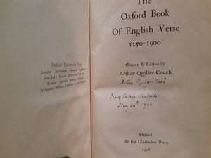 The Oxford Book of English Verse 1250 -1900 by Arthur Quiller-Couch