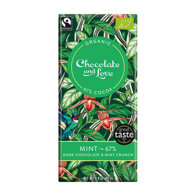 Chocolate and Love Mint 67%, 80g