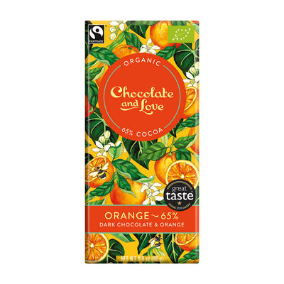 Chocolate and Love Orange 65%, 80g