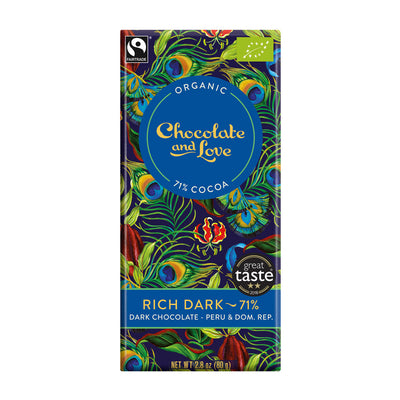 Chocolate and Love Rich Dark 71%, 80g