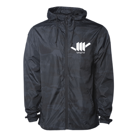 Lightweight Windbreaker Jacket (Black Camo)