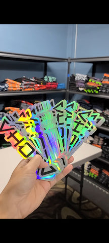 "Holographic 7"" Logo Sticker"