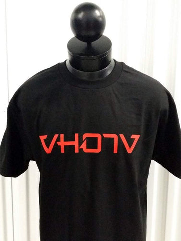 Adult Logo Tee (Black/Red) - VH07V