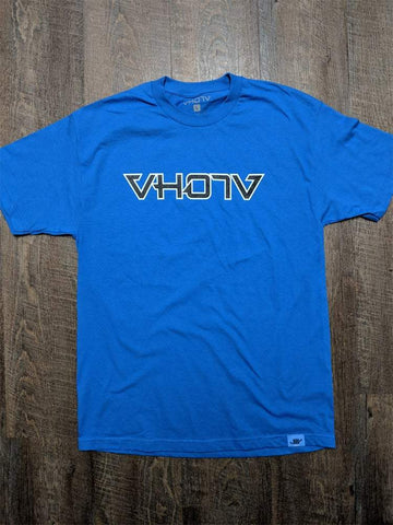 Adult Logo Tee (Blue/Black) Outline - VH07V