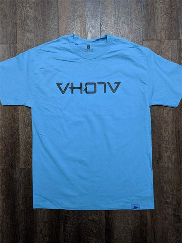 Adult Logo Tee (Carolina Blue/Black) - VH07V