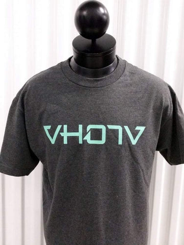Adult Logo Tee (Charcoal Heather/Mint) - VH07V