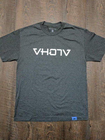 Adult Logo Tee (Charcoal Heather/White) - VH07V
