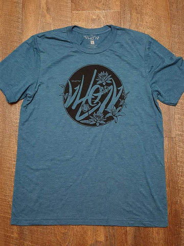 "Soft Triblend ""Flow"" Tee (Steel Blue) - VH07V"