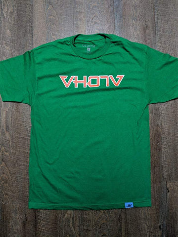 "Adult ""Bows"" Tee (Green) - VH07V"