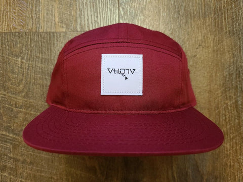 Strapback: 5-Panel Camper (Berry) - VH07V