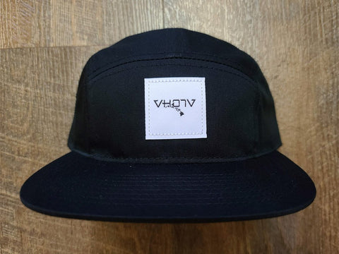 Strapback: 5-Panel Camper (Black) - VH07V