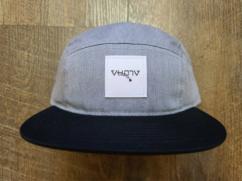 Strapback: 5-Panel Camper (Heather Gray/Black) - VH07V