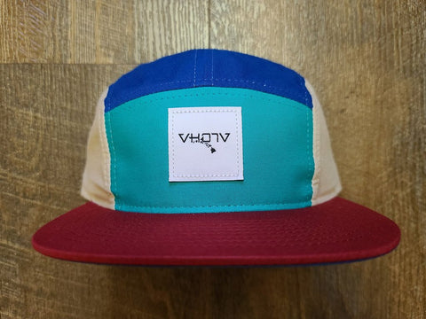 Strapback: 5-Panel Camper (Teal/Blue/Dark Cardinal/Birch) - VH07V