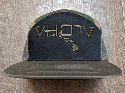 Snapback: 7-Panel Trucker (Black, Camo, Loden)