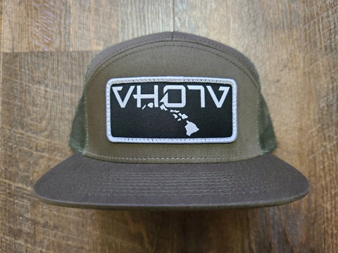 Snapback: 7-Panel Patch Trucker (Loden) - VH07V