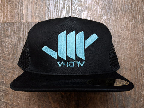 Snapback: Shaka (Black Trucker/Glow in the Dark thread) - VH07V