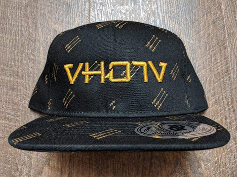 Snapback: Black/Golden Arrows 3D Puff logo - VH07V
