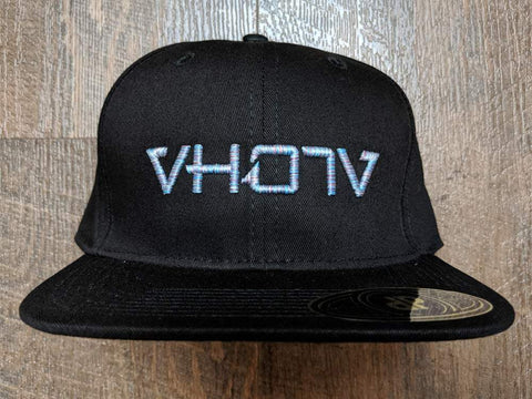 Snapback: Black/Mix Candy 3D Puff logo - VH07V