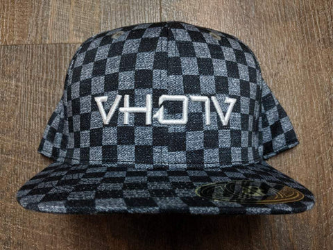 Snapback: Vintage Checkers 3D Puff logo
