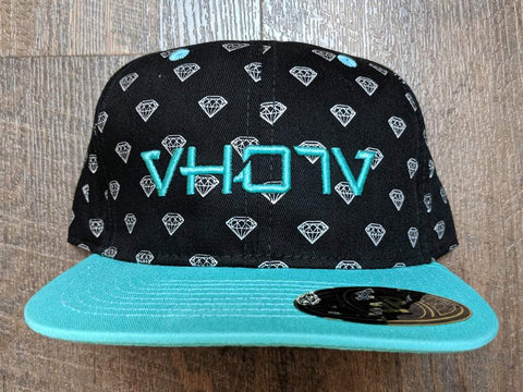 Snapback: Diamond Mint 3D Puff logo