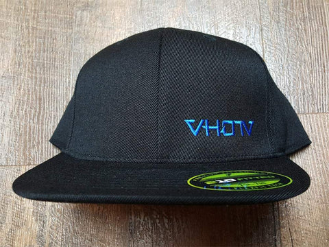 Fitted: Small Logo Hat (Black/Blue)