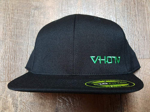 Fitted: Small Logo Hat (Black/Green) - VH07V