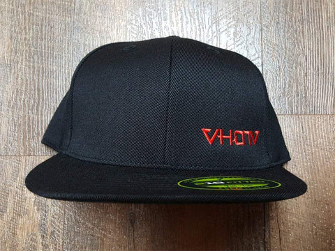 Fitted: Small Logo Hat (Black/Red)