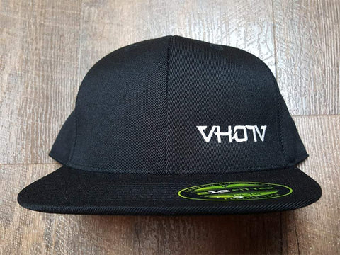Fitted: Small Logo Hat (Black/White)