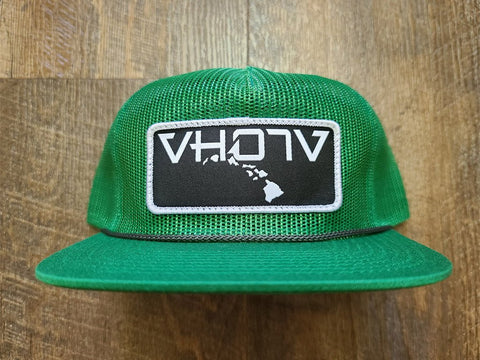 Snapback: Full Mesh Pinch Front Trucker (Green) - VH07V