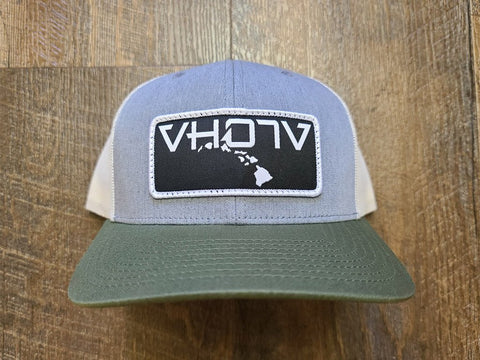 Snapback: Patch Trucker (Gray/Birch/Army Olive) - VH07V