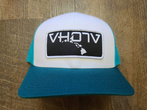 Snapback: Patch Trucker (White/Teal/Teal) - VH07V
