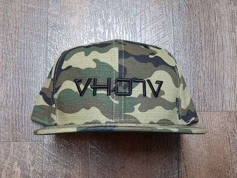 Snapback: Camo with Black 3D Puff logo - VH07V