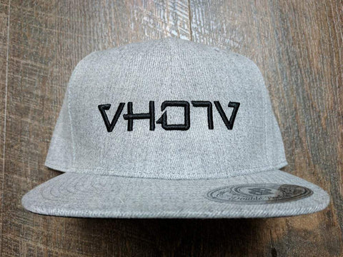 Snapback: Heather Gray/Black 3D Puff logo